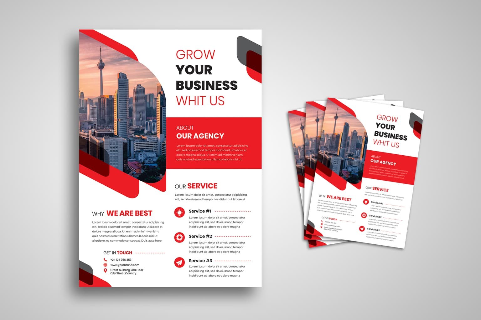 flyer modern business grow 4