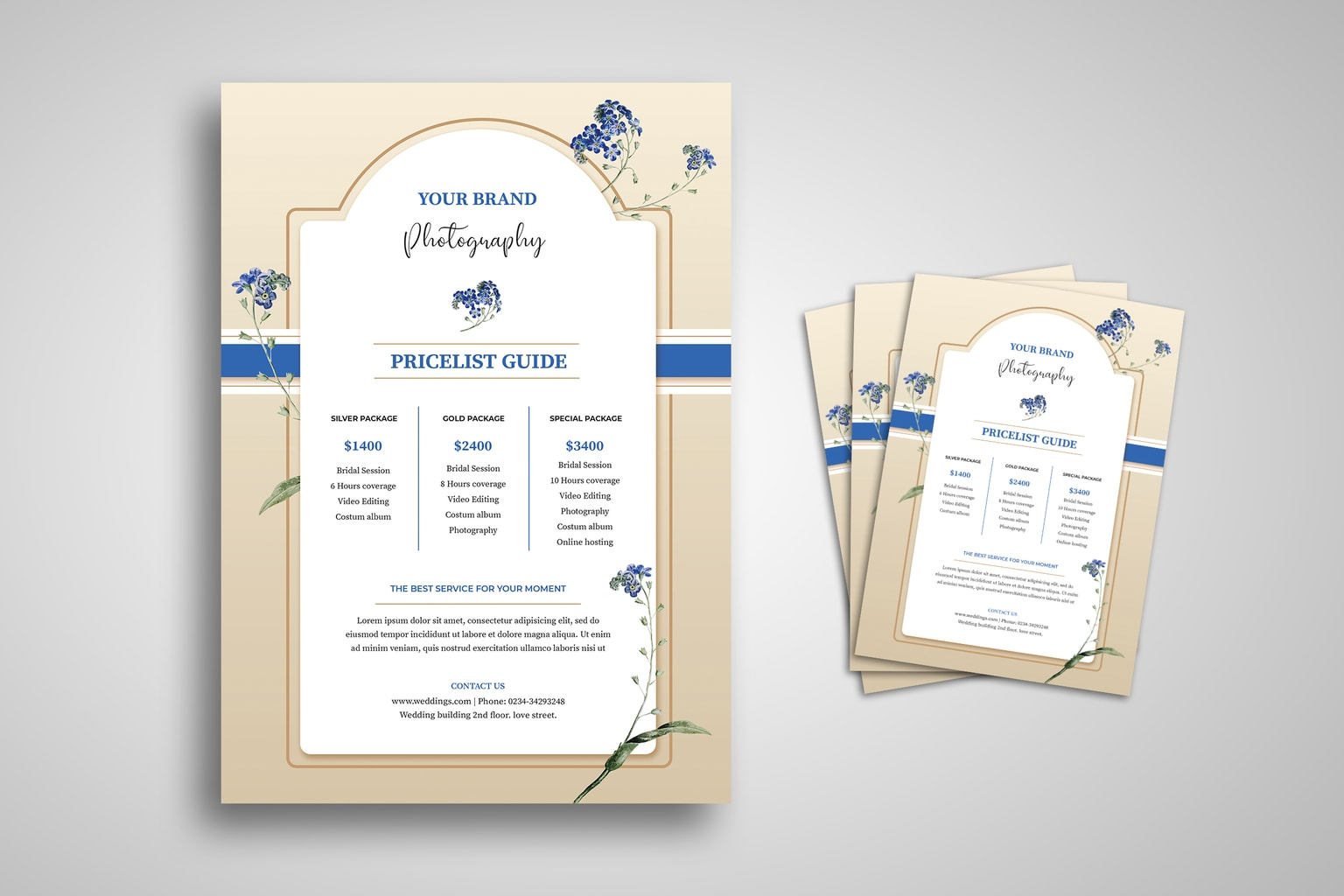 flyer photographic frame