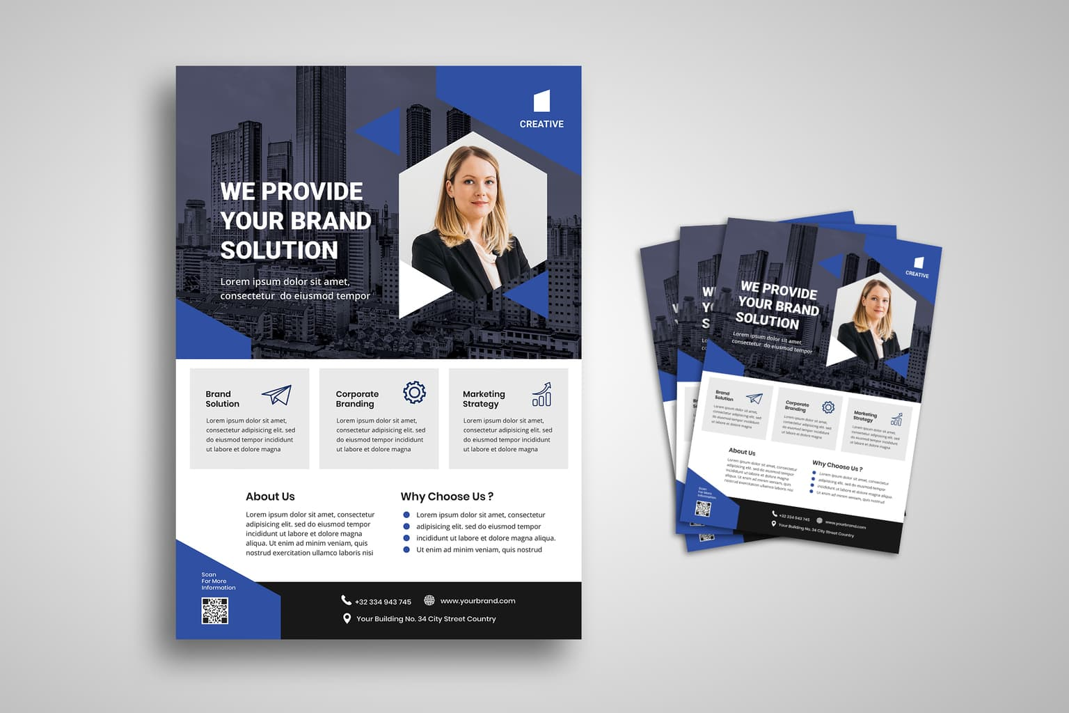 flyer provide brand solution 3