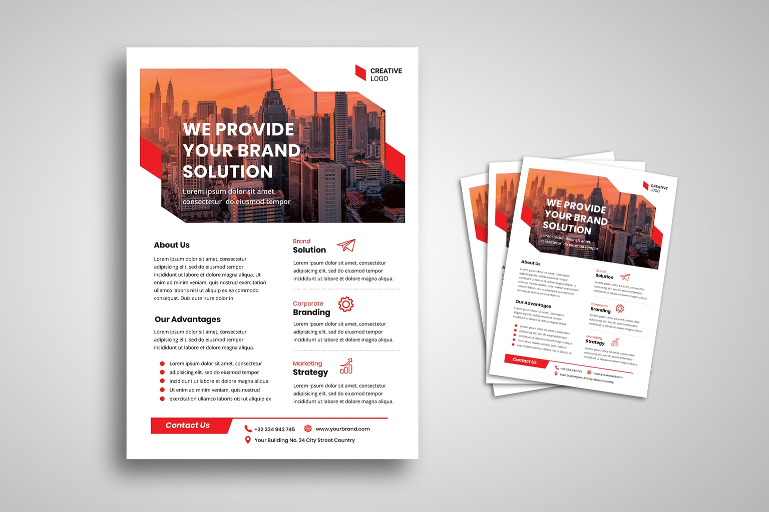 flyer provide brand solution 4