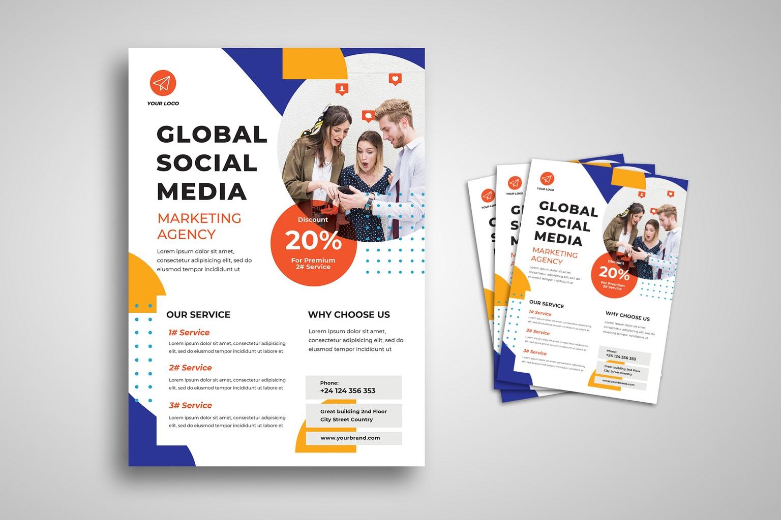 flyer social media strategy organizer