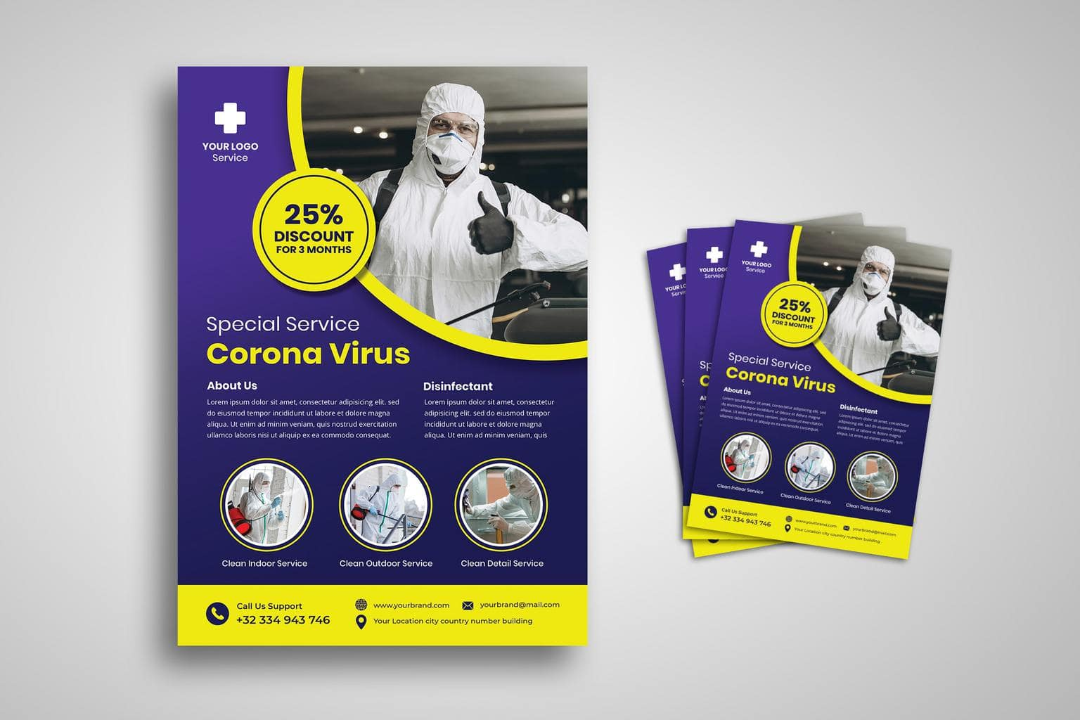 flyer special service corona virus