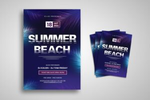 flyer summer beach festival