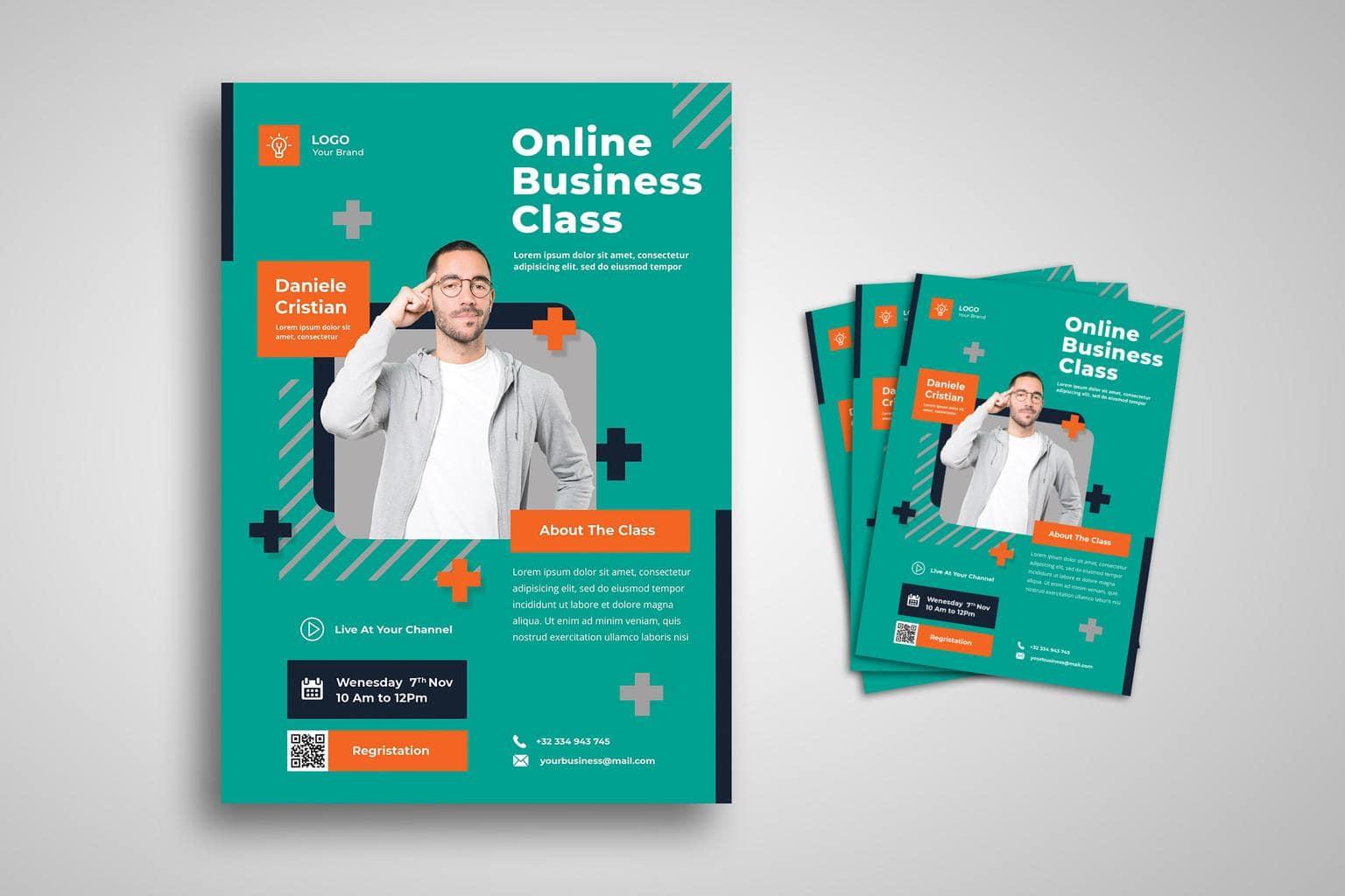 flyer template online business class