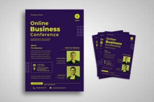 flyer template online business seminar 1