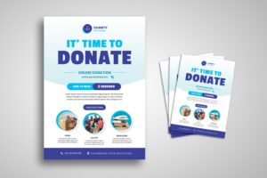 flyer template online donation