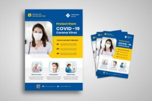 flyer template prevent protect covid 19