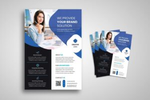 flyer template provide brand solutions