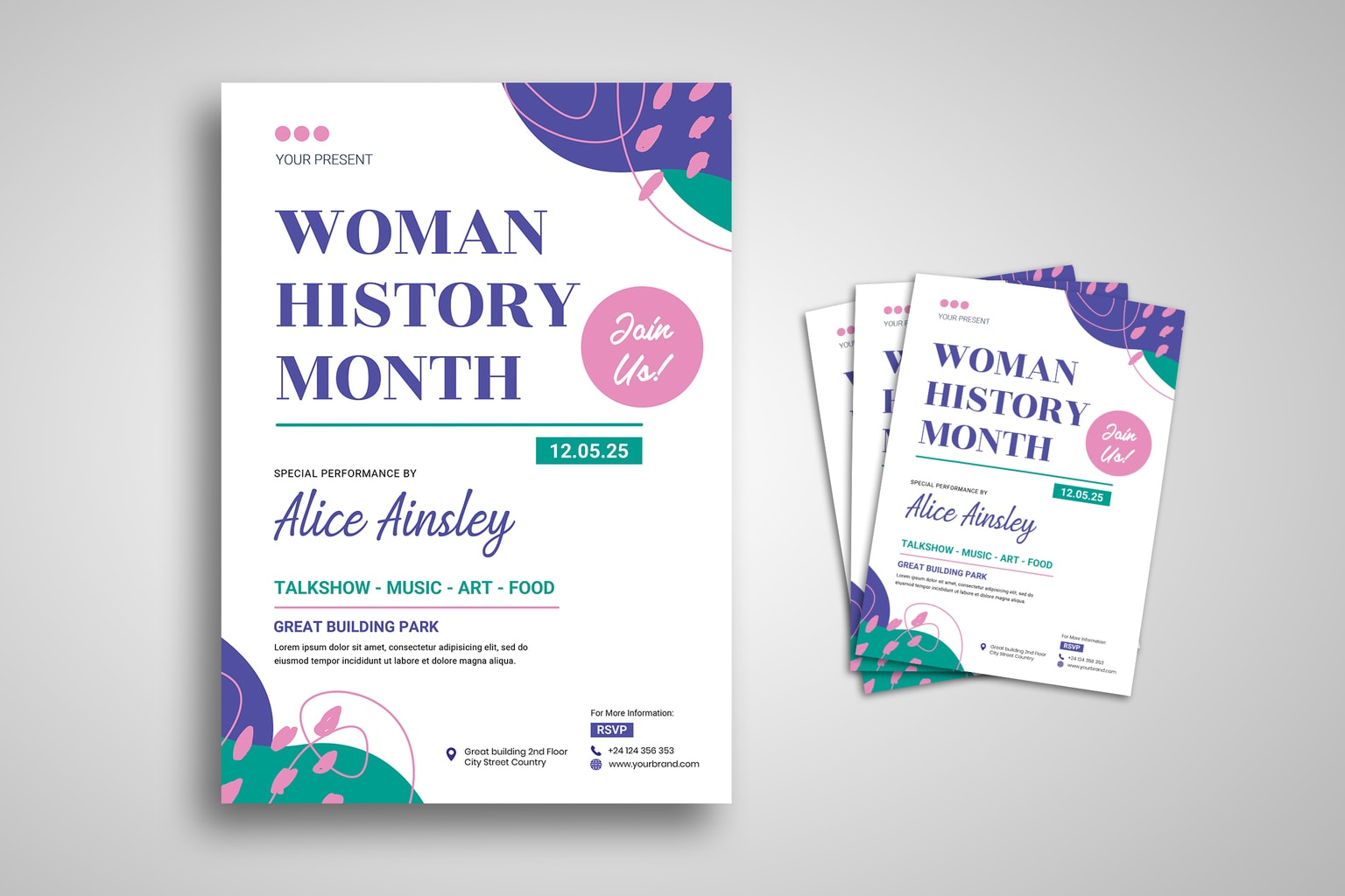 flyer woman history month 1