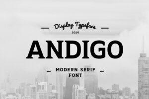 fonts andigo serif