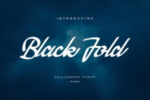 fonts black fold calligraphy