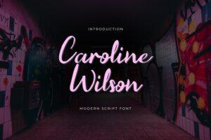 fonts caroline wilson script