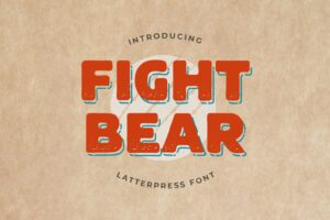 fonts fight bear display