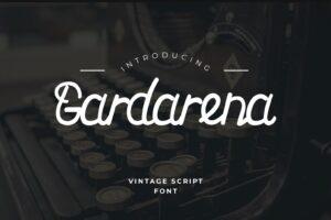 fonts gardarena script