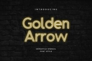 fonts golden arrow stencil
