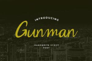 fonts gunman script