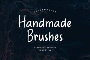 fonts handmade brushes