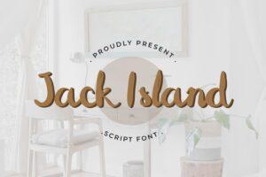 fonts jack island script