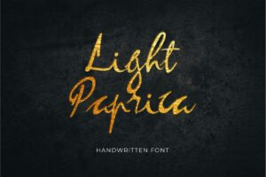 fonts light paprica handwritten
