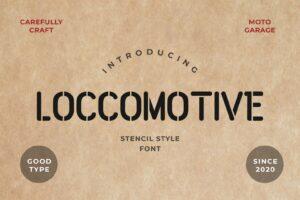 fonts loccomotive stencil typeface