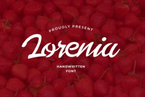 fonts lorenia handwritten