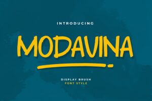 fonts modavina display brush