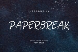 fonts paperbreak hand brush
