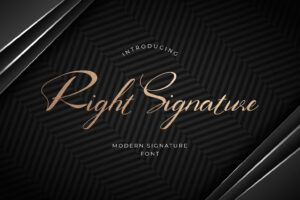 fonts right signature