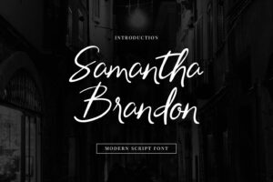 fonts samantha brandon 5