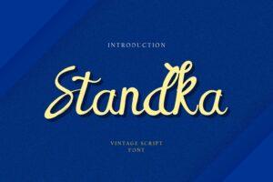 fonts standka vintage script 1