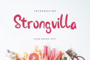fonts strongvilla handrawn typeface