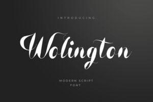 fonts wolington script