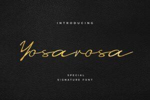 fonts yosarosa signature