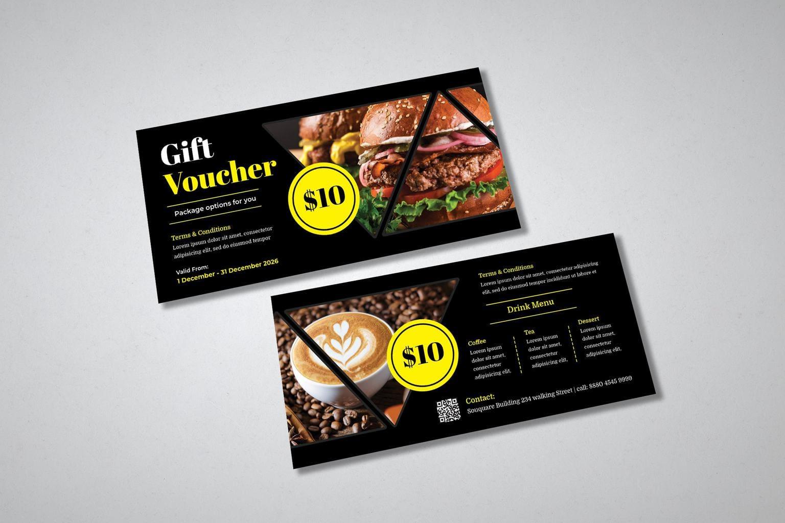 gift card voucher general food drinks