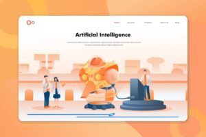 illustration landing pages artificial intelligence programs