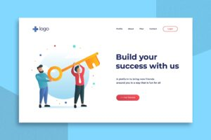 illustration landing pages build a successful business
