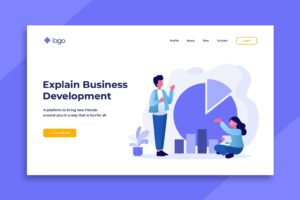 illustration landing pages business grow development