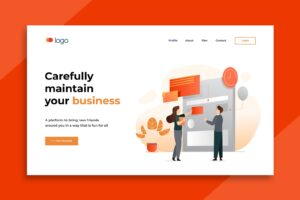 illustration landing pages business maintenence service