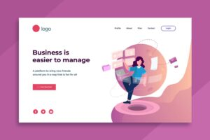 illustration landing pages business management