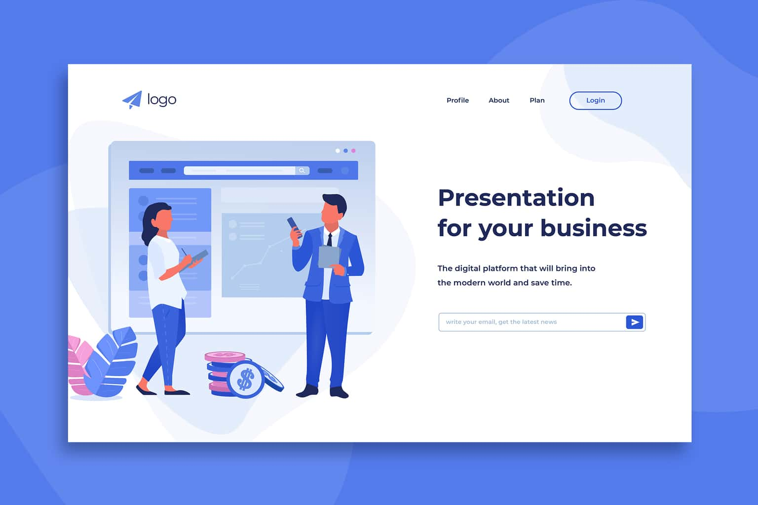 illustration landing pages business presentation