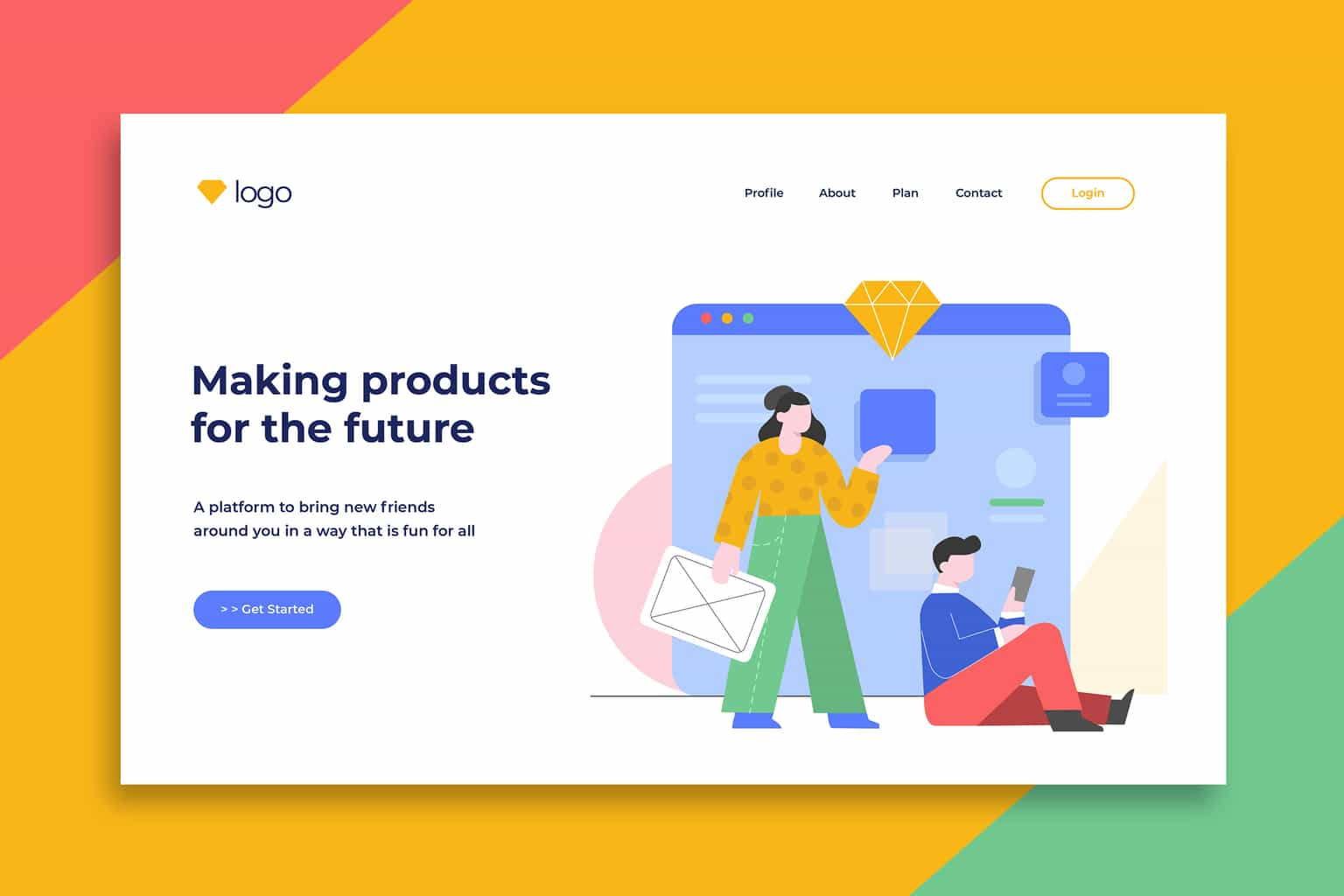 illustration landing pages create future products