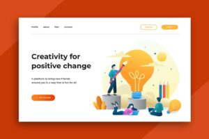 illustration landing pages creativity for positive