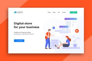 illustration landing pages digital store
