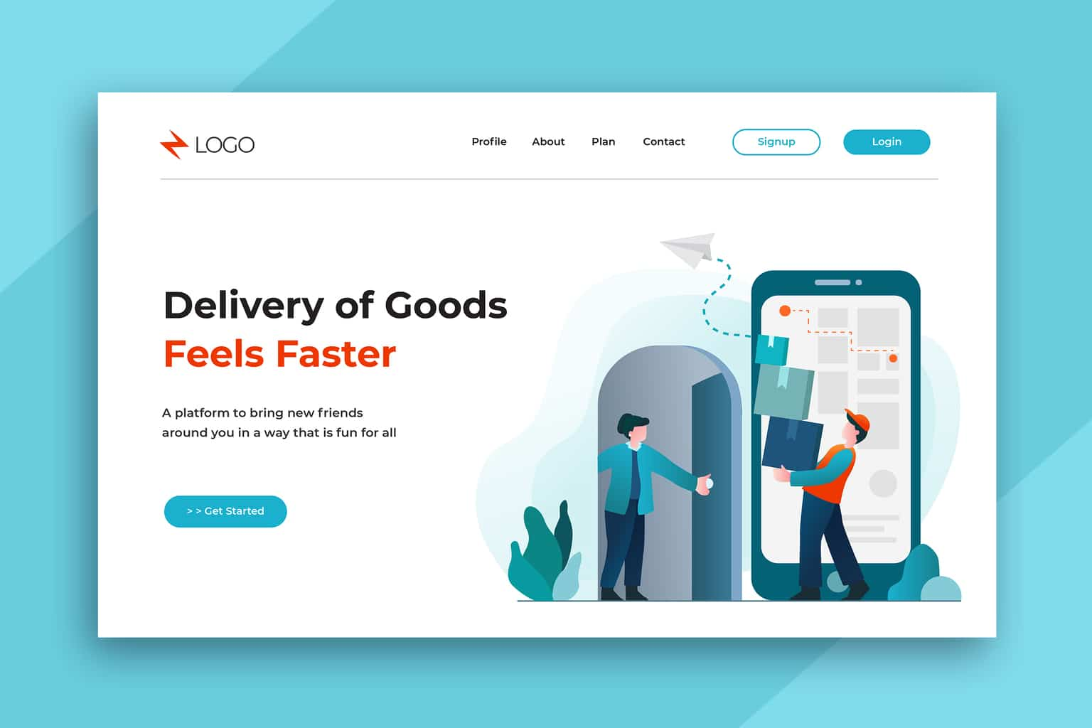 illustration landing pages faster service delivery