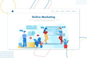 illustration landing pages online marketing services