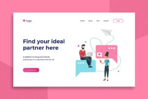 illustration landing pages partner couple platform 2