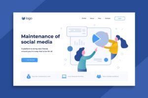 illustration landing pages social media maintenance