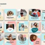 instagram banner spring sale colorful 3