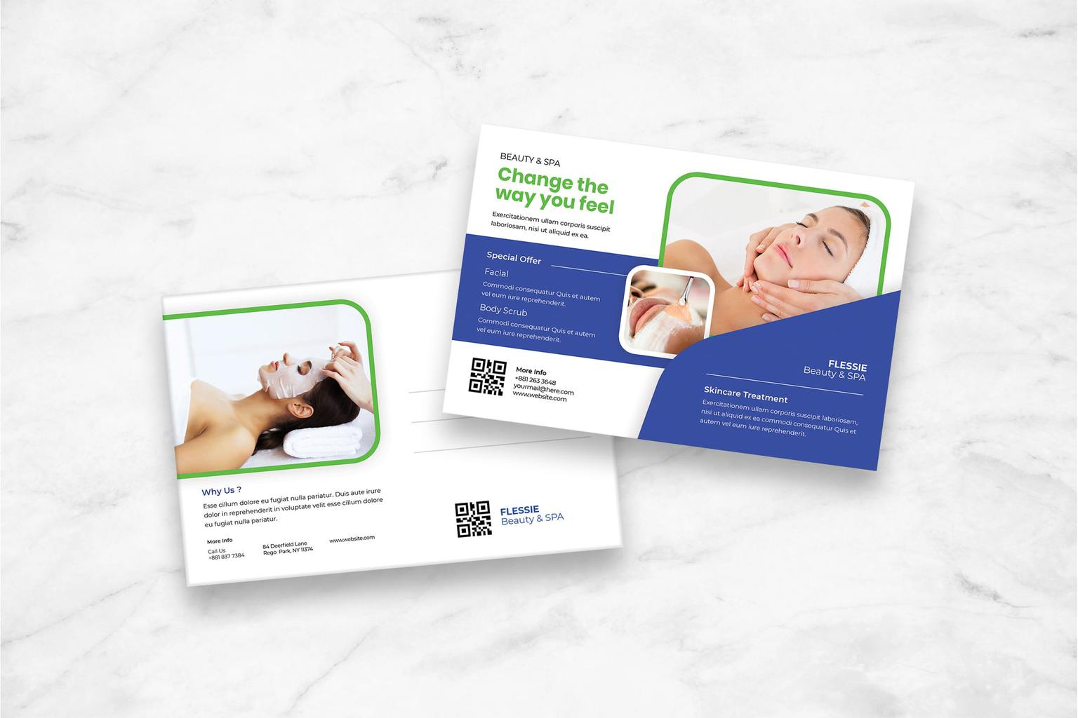postcard beauty spa treatment