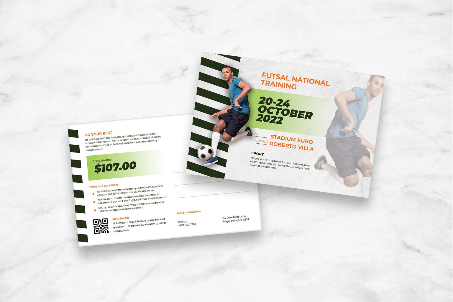postcard futsal national training